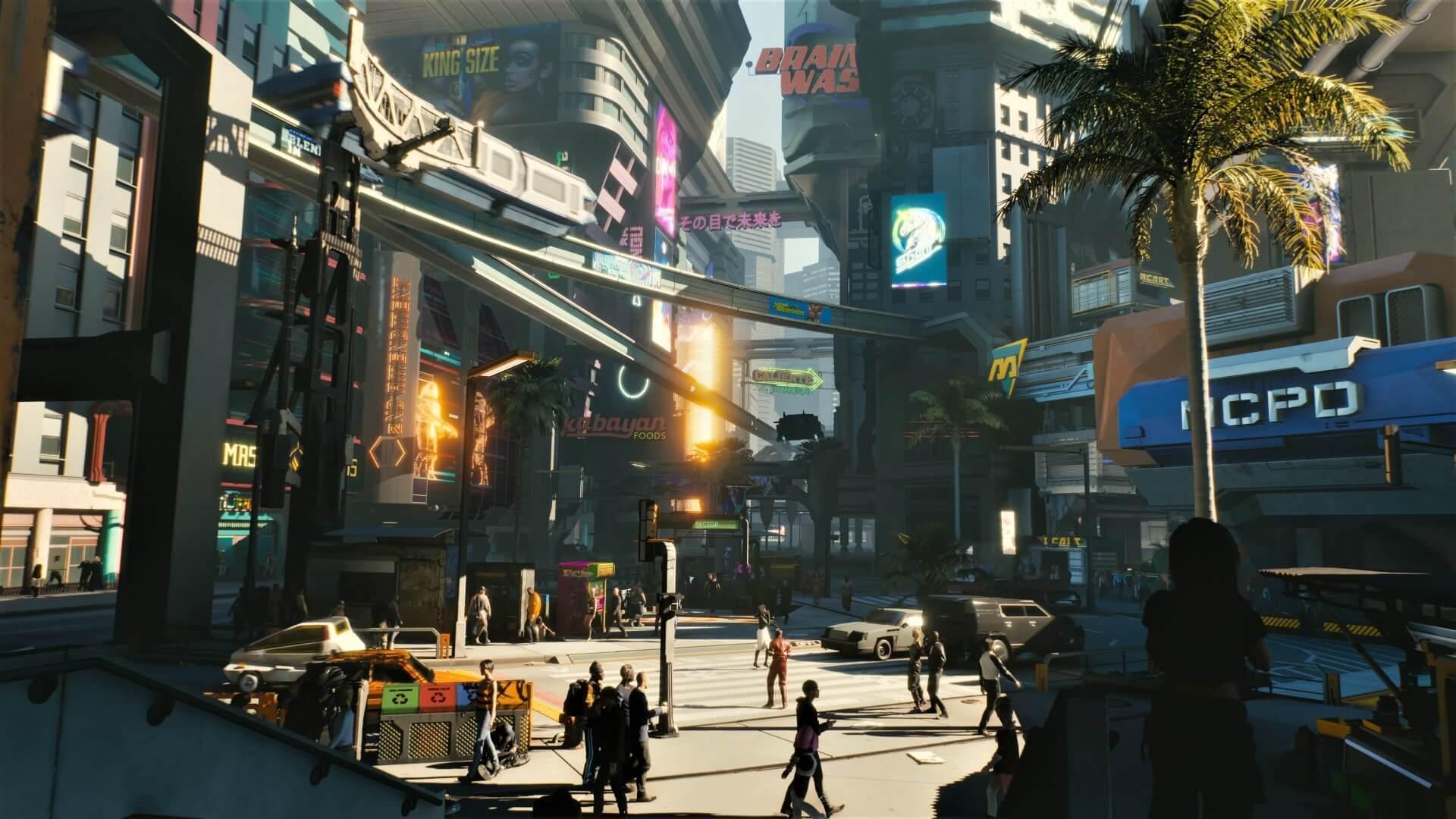 Night City, megacidade fictícia de Cyberpunk 2077