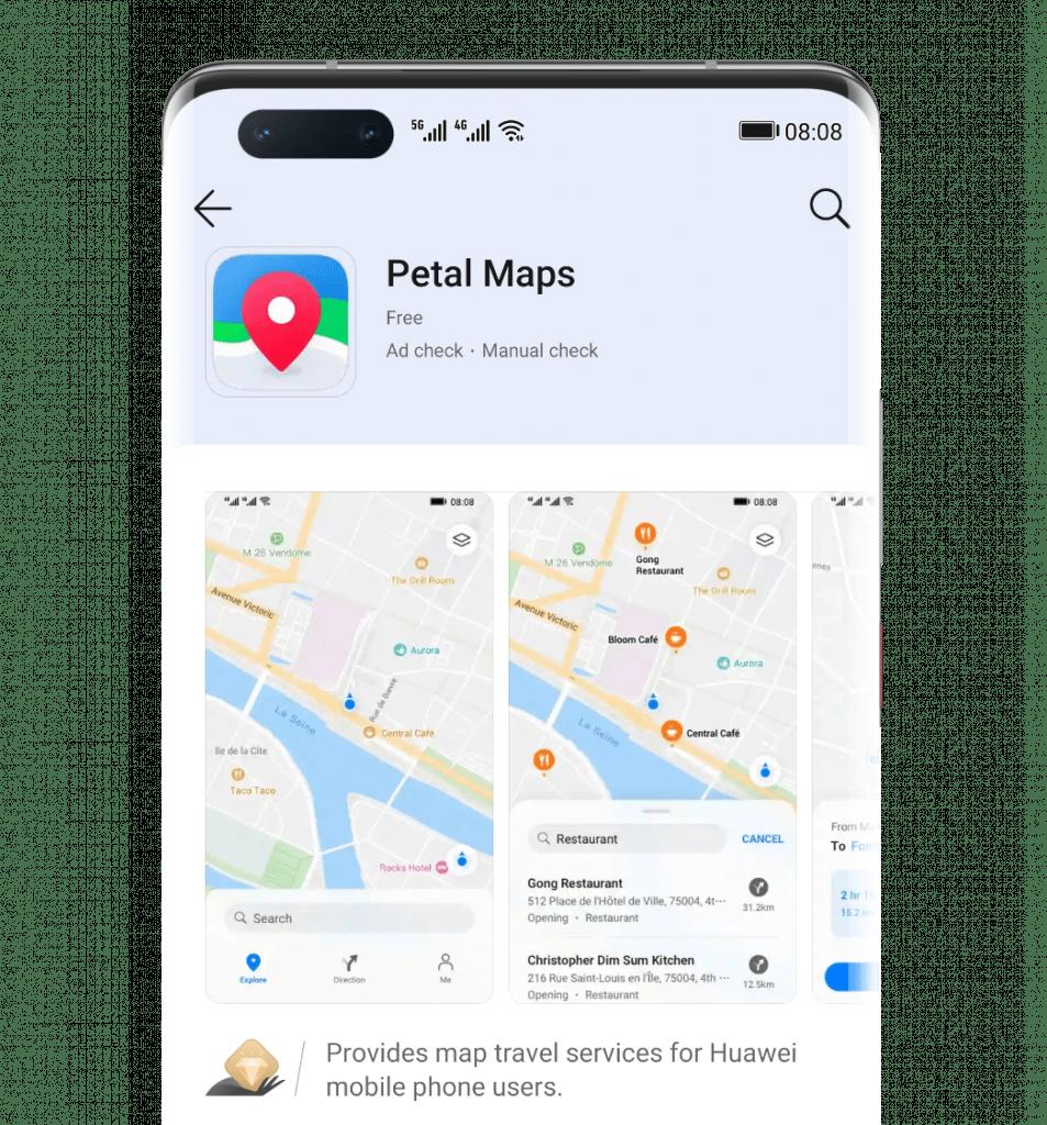 Serviços de buscas e mapas Huawei
