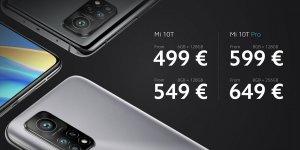 Preço em euro do Xiaomi Mi 10T e do Xiaomi Mi 10T Pro