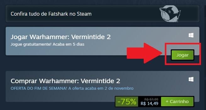 Como baixar gratuitamente Warhammer: Vermitnide 2 na Steam