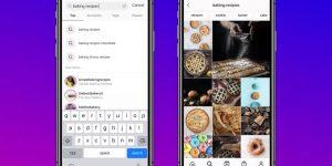 Instagram busca por palavra-chave