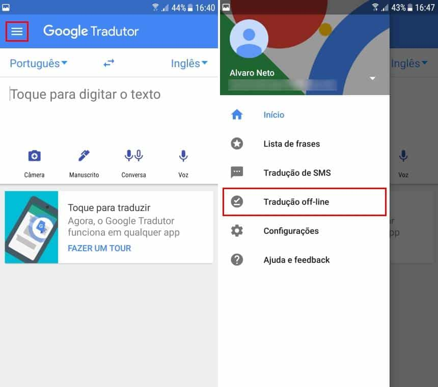 Google tradutor offline