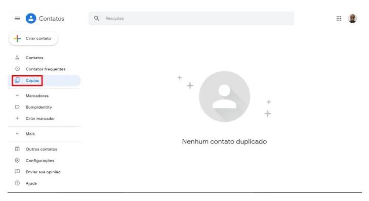 como excluir contatos duplicados gmail