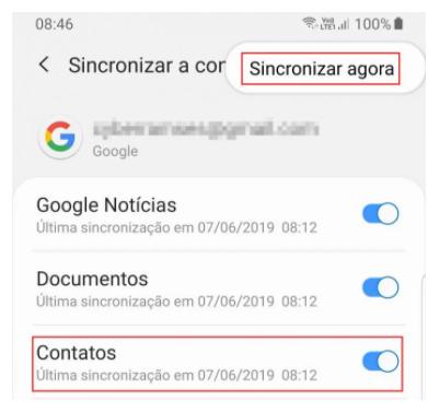 contatos google adicionar
