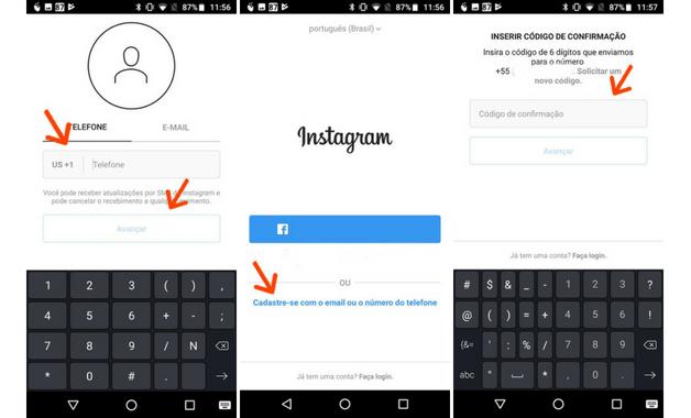 Como criar conta no Instagram