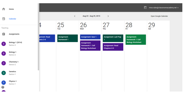 Cronograma google classroom