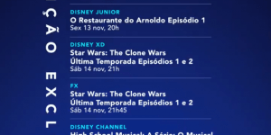 Programação oficial de pré-lançamento do Disney+ no Brasil