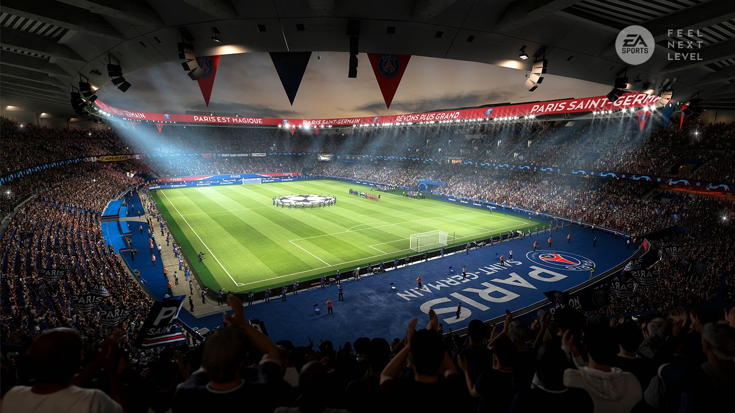 Estádio Parc des Princes, do PSG, no FIFA 21