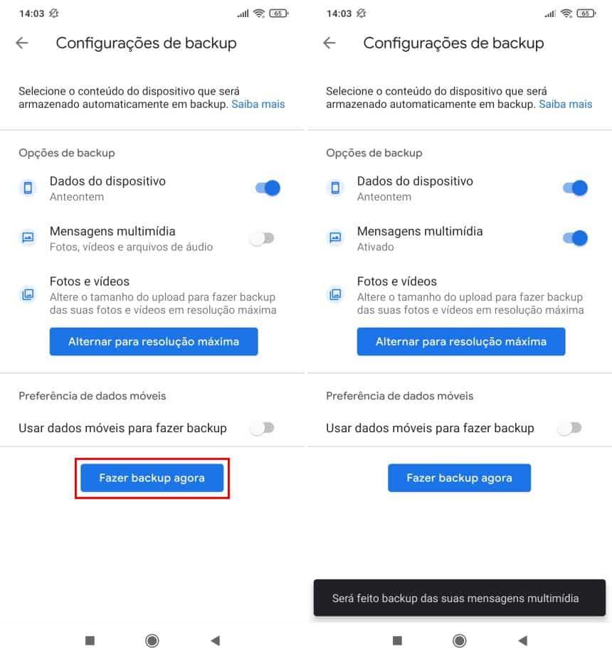 Como fazer backup no Google One
