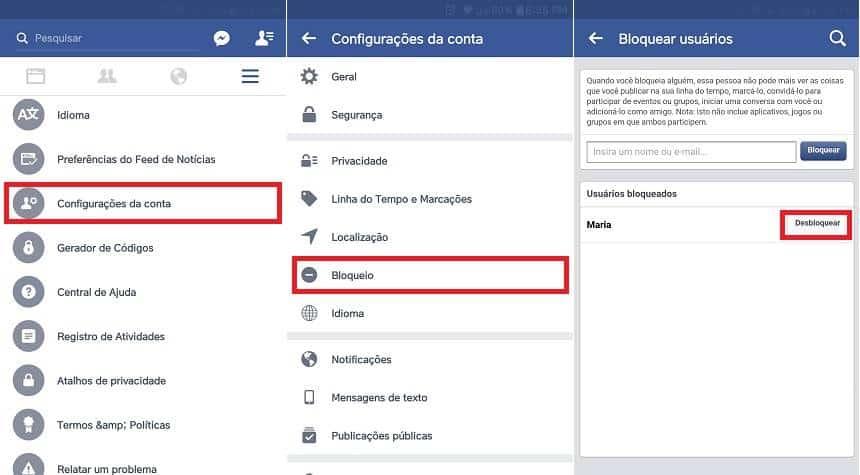 Como gerenciar bloqueios no Facebook
