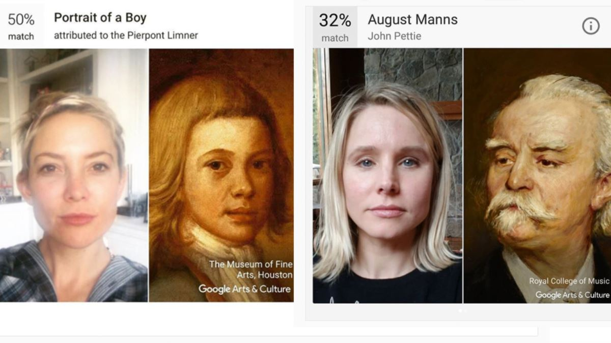 google art and culture selfie