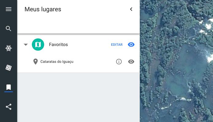 Google earth meus lugares