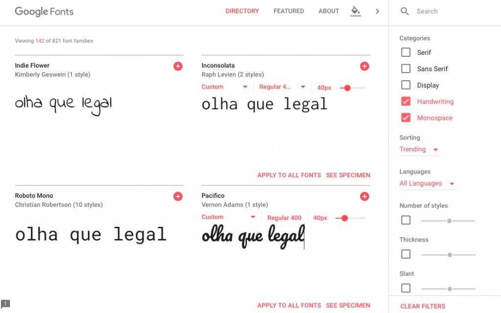 como funciona google fonts