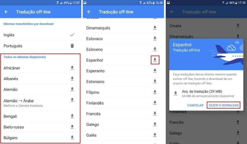 como traduzir offline google