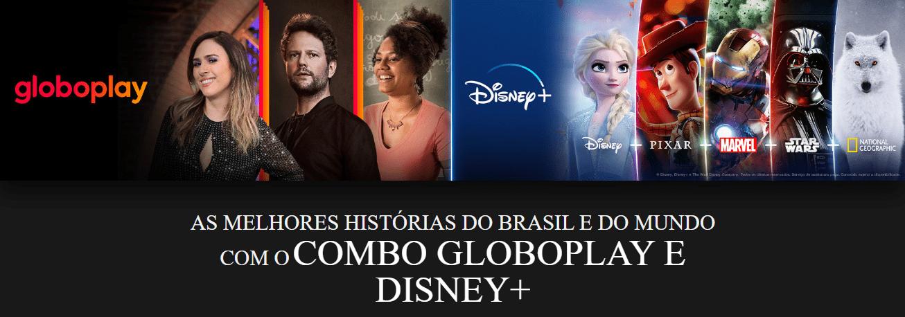 Combo inédito entre Disney+ e Globoplay no Brasil