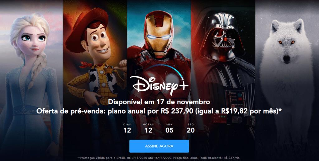 Disney+ libera a opção de pré-assinatura com preço especial no Brasil