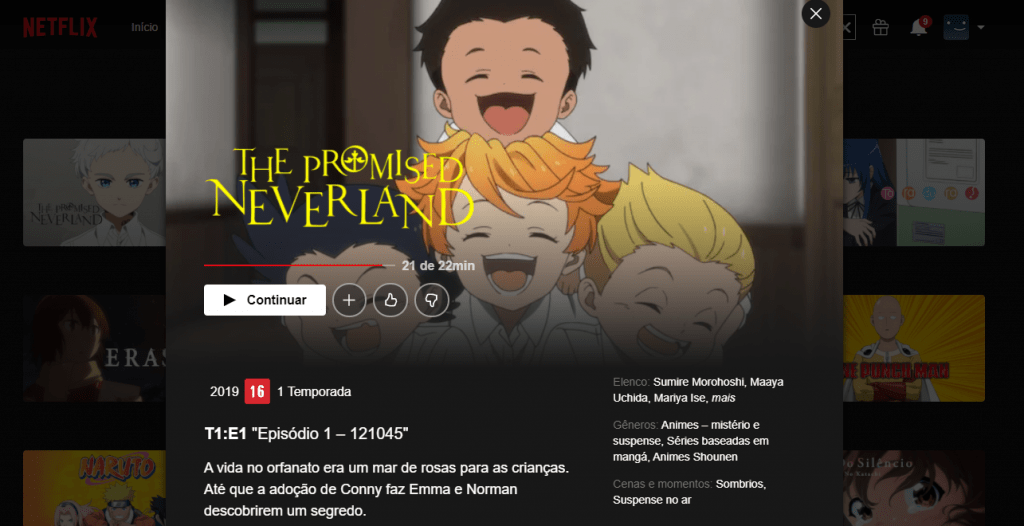 The Promised Neverland na Netflix