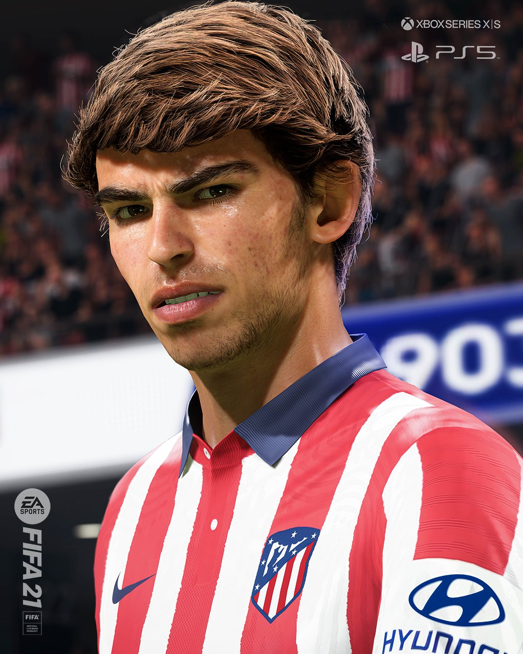 João Félix, do Atlético de Madrid, no FIFA 21