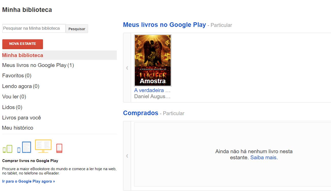 MInha Biblioteca Google Play Livros