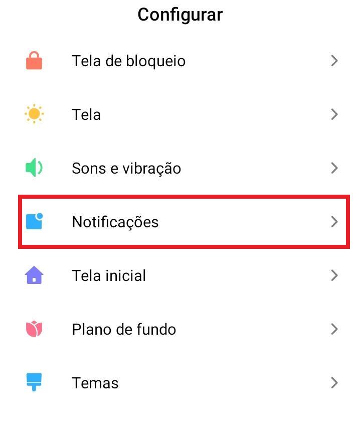 Como habilitar/desabilitar a notificação do Android