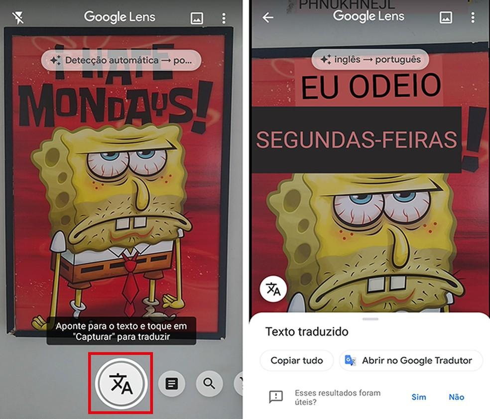 Tradução Google Lens
