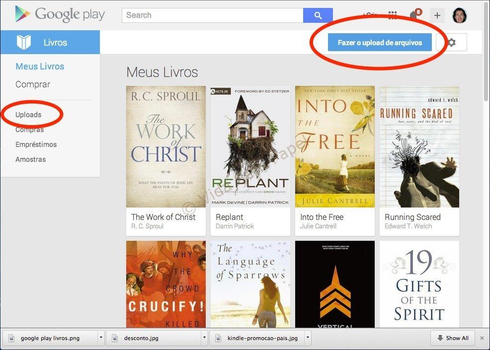 Como fazer upload de arquivos no Google Livros