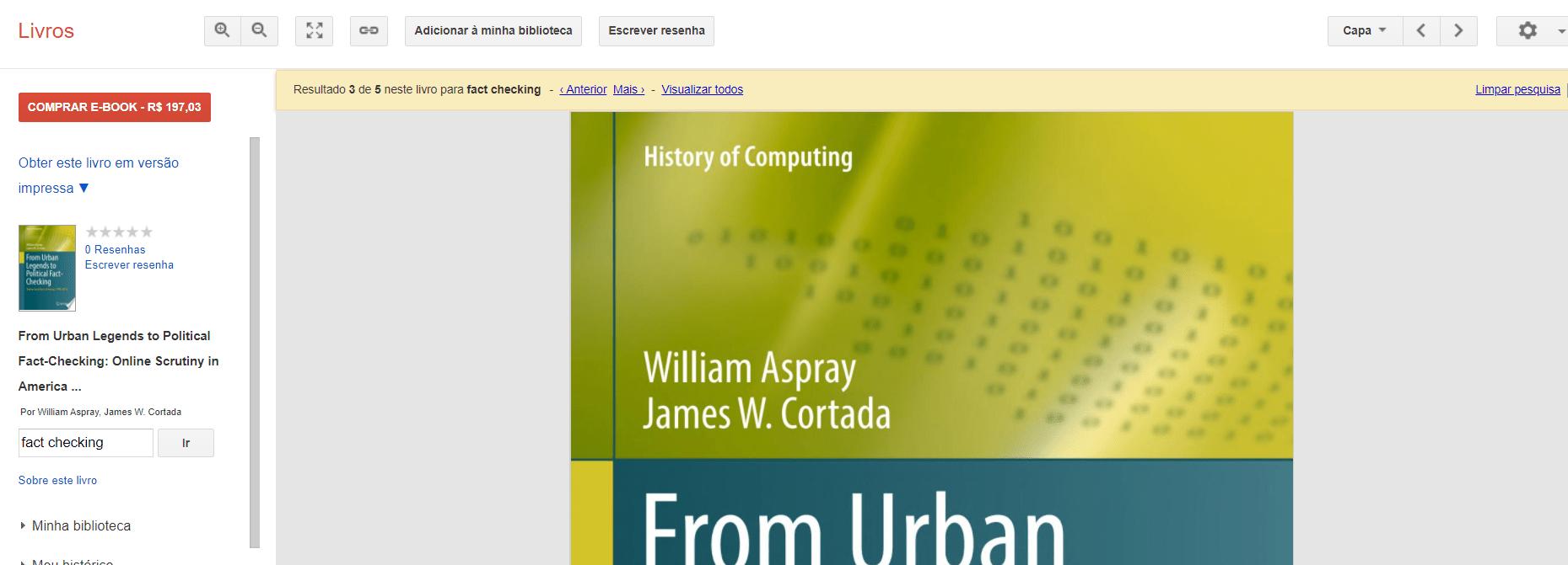 Visualização do arquivo Google Livros