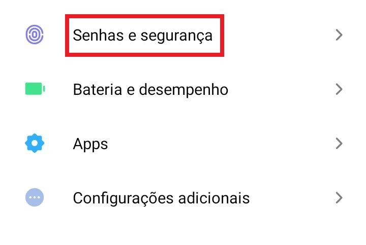 Como cadastrar/alterar a senha do Android