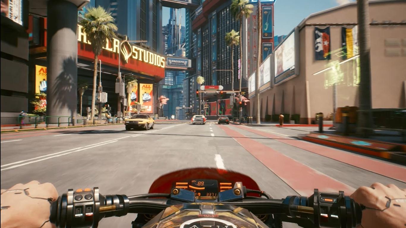 Imagem do trailer de lançamento de Cyberpunk 2077