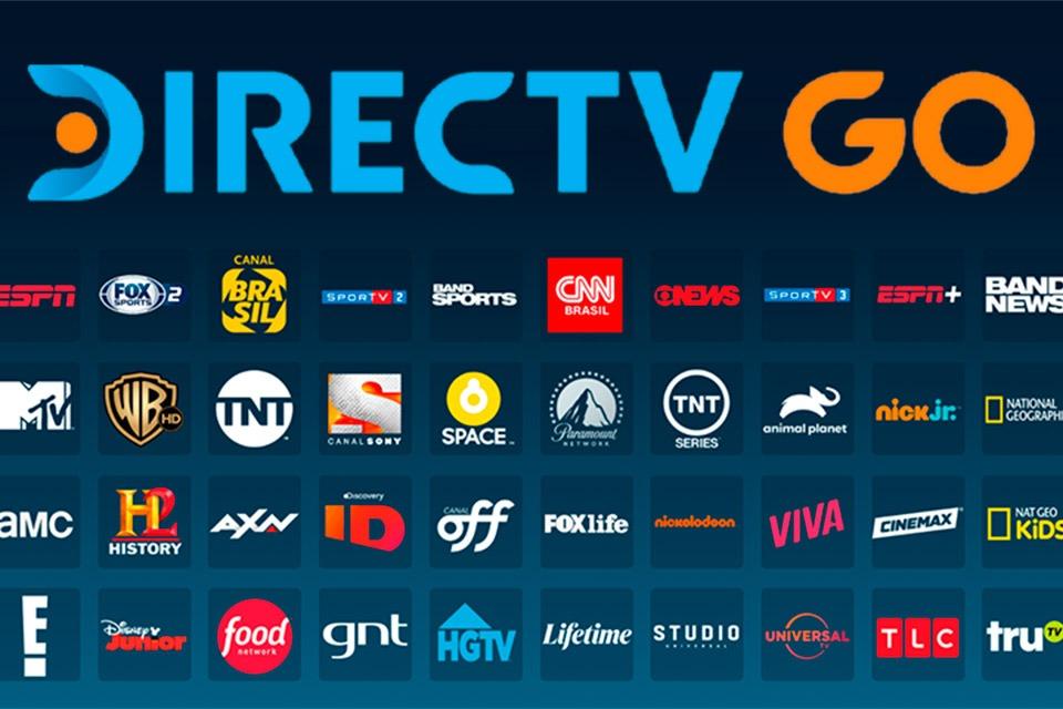 Directv Go canais disponíveis