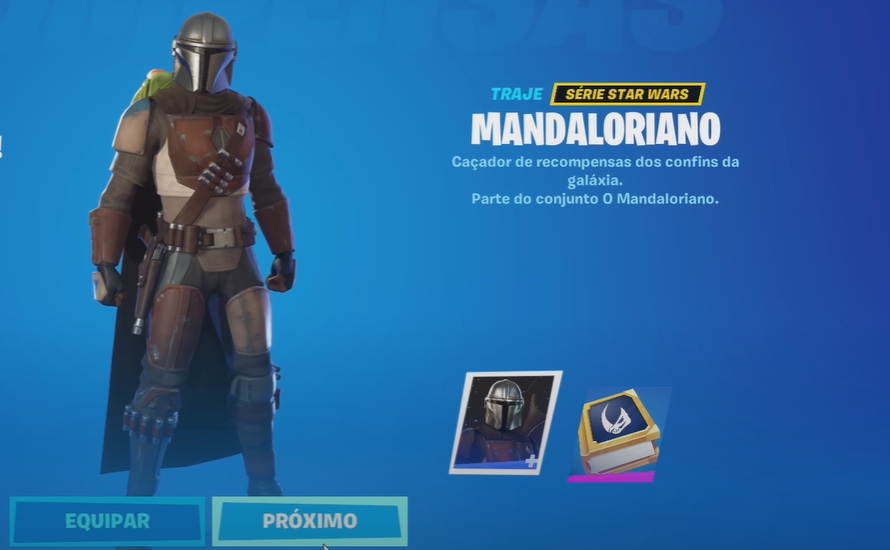 Skin do Mandaloriano no Fortnite