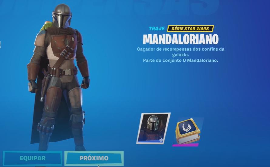 Skin do Mandaloriano no Fortnite