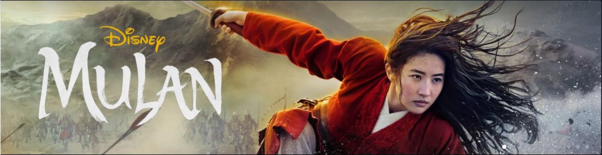 Mulan é um dos lançamentos do Disney Plus em 04/12