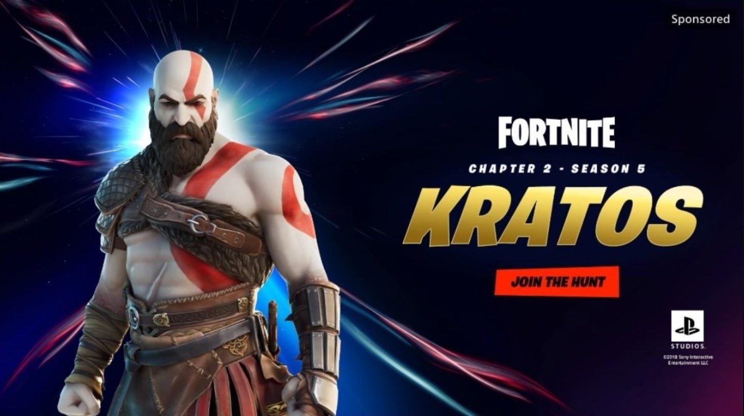 Kratos no Fortnite