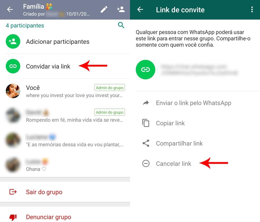 link para convite do Whatsapp
