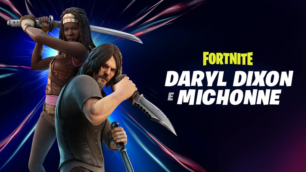 Michonne e Daryl no Fortnite