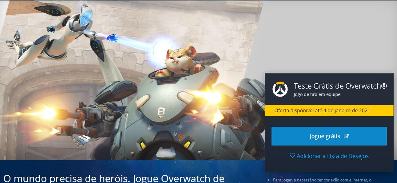 Overwatch grátis na Battlenet