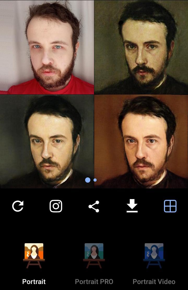 Versão gratuita x Versão paga do Portrait Ai Avatar da Renascença