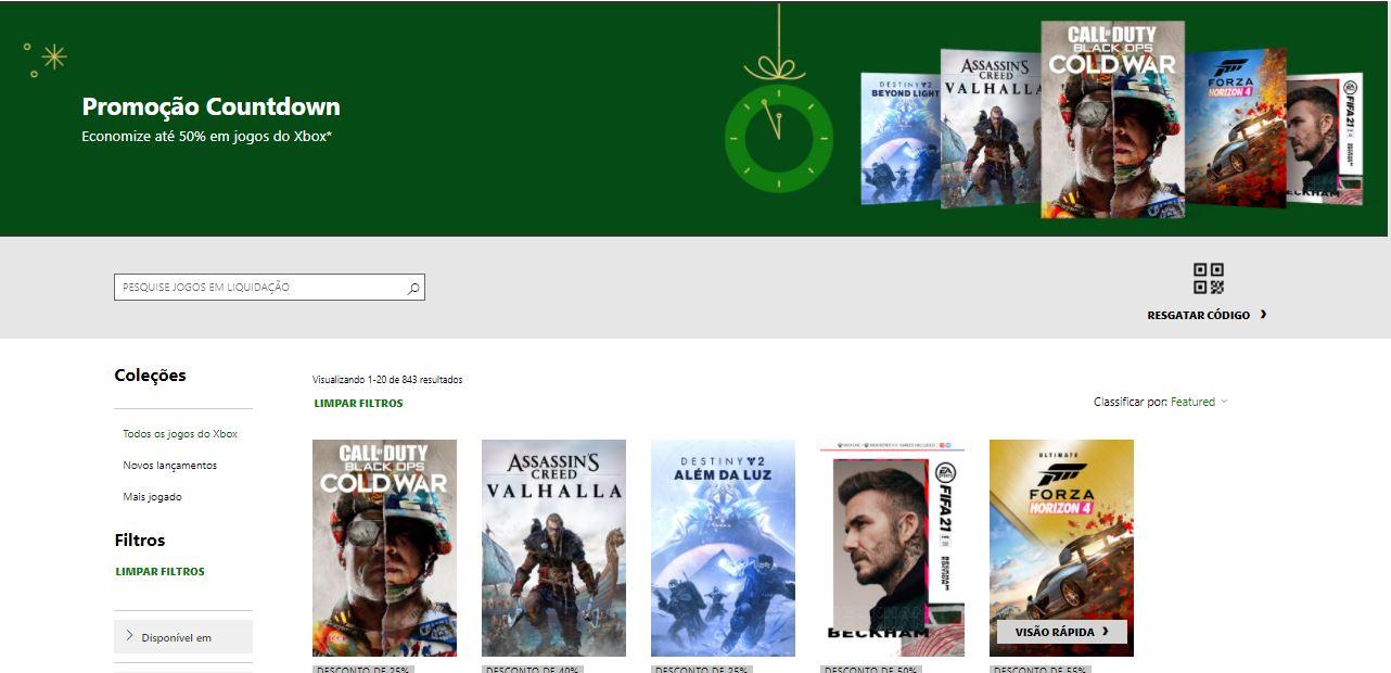 Promoção Countdown da Microsoft Store