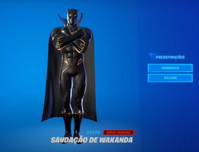 Saudação de Wakanda, gesto do Fortnite