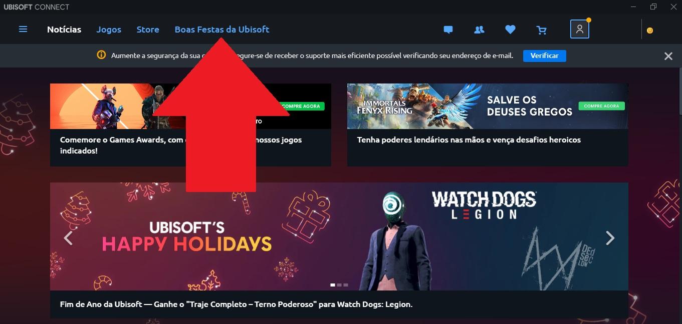 Resgatar jogos grátis no Ubisoft Connect