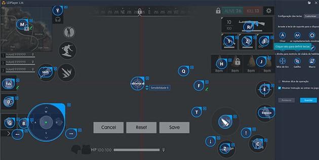 Configurar controles Free Fire