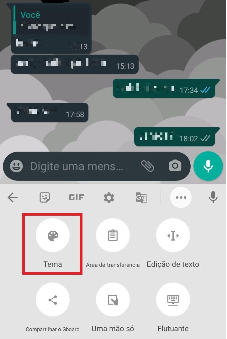 Como colocar uma foto no teclado do WhatsApp