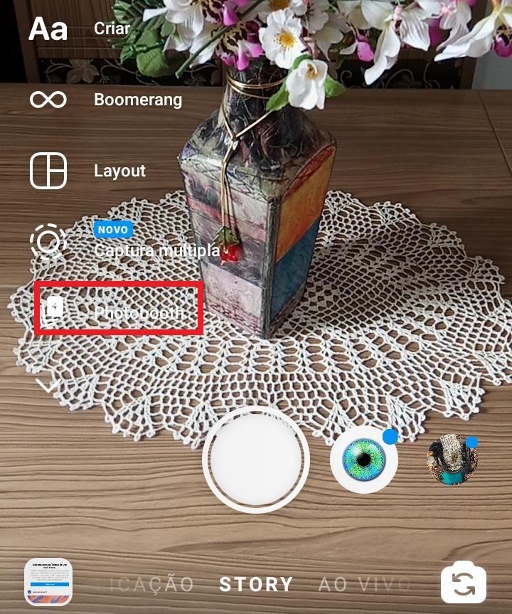 Como usar o Photobooth no Instagram Stories