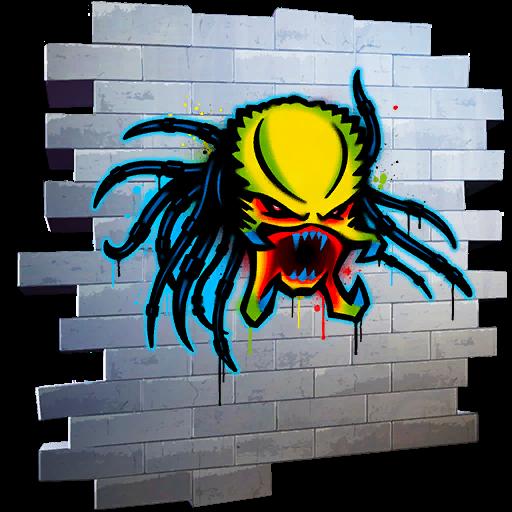 Spray do Predador no Fortnite
