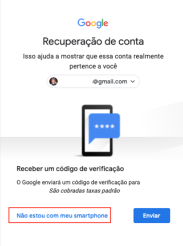 recuperaçaõ conta google SMS