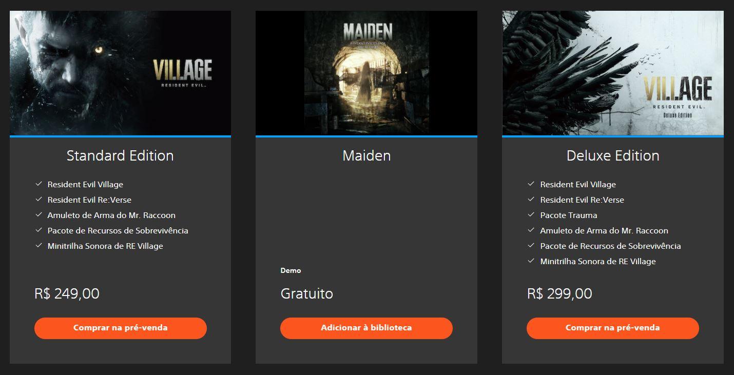 Resident Evil Village na PlayStation Store
