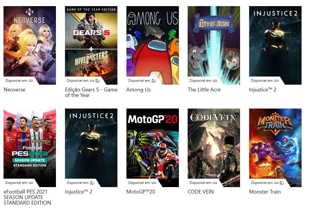 Catálogo do Xbox Game Pass
