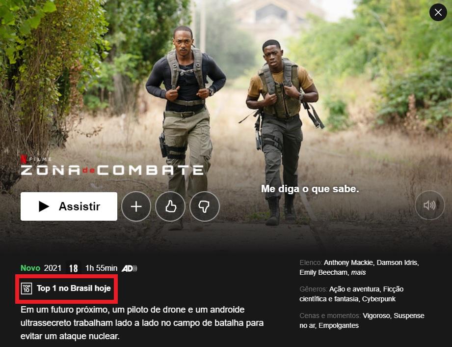 Zona de Combate, filme de ação da Netflix