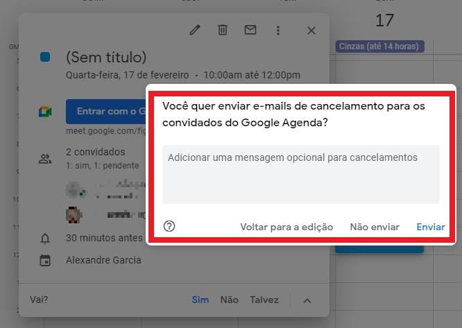 Cancelar reunião do Google Meet pelo PC